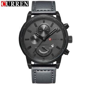 Relógio Masculino Original Curren Militar Luxo 8217 Barato