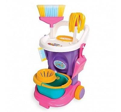 Brinquedos Meninas Cleaning Trolley Carrinho Limpeza Maral
