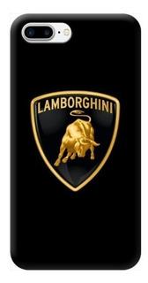 Funda Case iPhone 5 6 7 8 X Plus Lamborghini Logo Carros