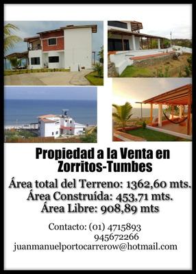 Moderna Casa De Playa Zorritos, Tumbes