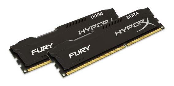 Memoria Ddr4 16gb Hyperx(2x8gb) 3200mhz Fury Black Cl18