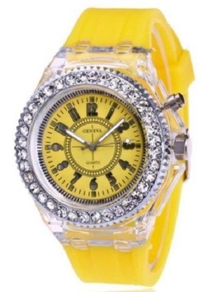 Reloj Con Luces Led Colores Divertidos 2 Por El Mismo Precio
