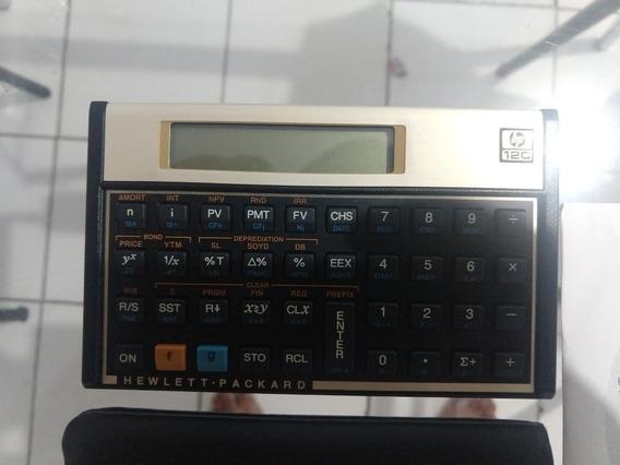 Calculadora Financeira Hp 12c + Capa + Manual Do Usuário