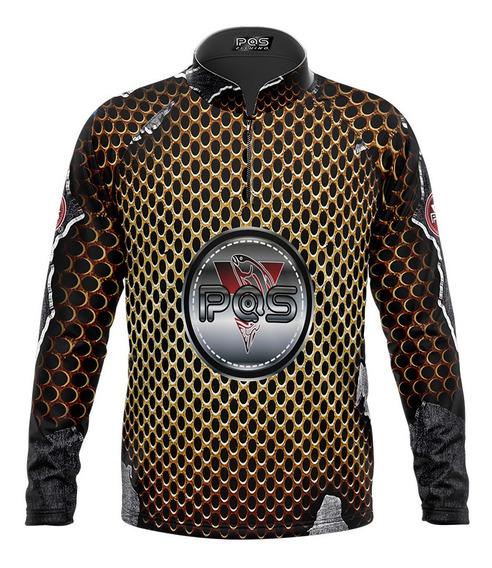 Camiseta Pesca Pqs-manga Longa-dryfit Uv 50+ Ref 03