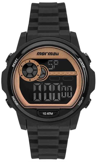 Relógio Mormaii Feminino Mo1462b/8j Negativo Preto Rose