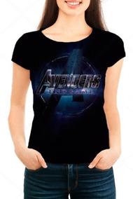 Camiseta Babylook Feminina Os Vingadores Ultimato Logo