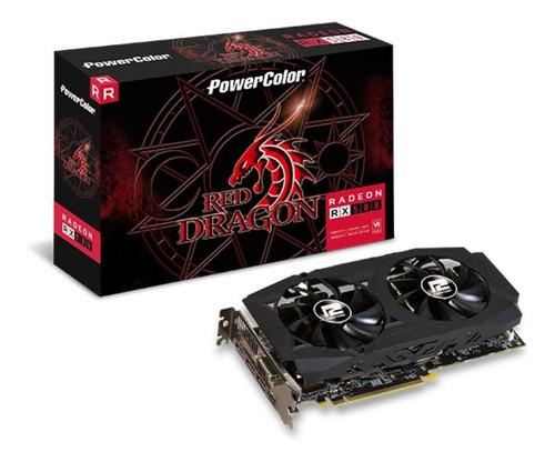 Imagem 1 de 3 de Placa De Vídeo Powercolor Red Dragon Radeon Rx 580 8gb Gddr5
