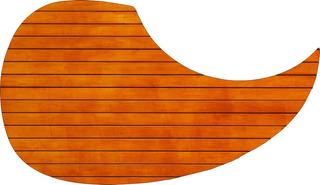 Escudo Palheteira Resinada Violão Aço Sônica Abstract Carpen