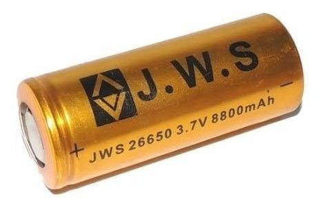 Bateria 26650 3,7v 8800mah Lanterna Jyx Hy Jws Taue E1 E2