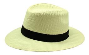 Sombrero Panama Hat Imitacion Toquilla Blanco Material Sinte