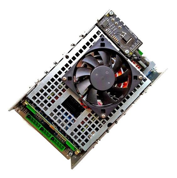 Placa C/ Fonte E Cooler Amplificador De Audio Som 2 Canais