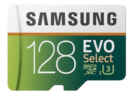 Cartão Micro Sd Samsung Evo 128gb 100mb/ U3 4k Select Origi