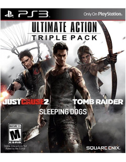 Sleeping Dogs + Just Cause 2 + Tomb Raider Ps3