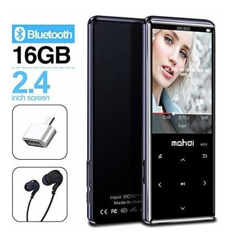 Reproductor De Mp3 Mymahdi Con Bluetooth 4.2, Botones Táctil