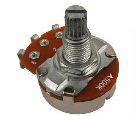 Potenciômetro Logaritimo A500k 18mm P/ Guitarra - Kit Com 30