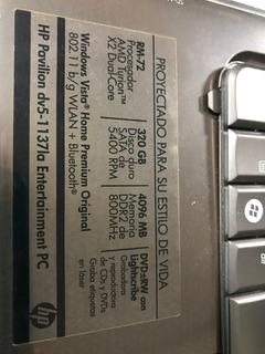 Carcasa Hp Dv5-1137la, Dv6000 Flex E Inverter, Dv4 Y Dv1000