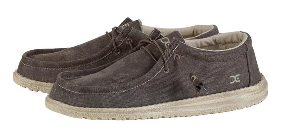 Zonazero Zapatillas Zapato Hey Dude Wally Incas Brown Hombre