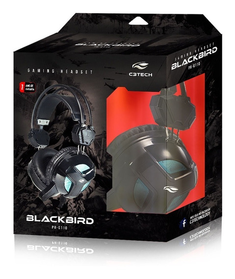 Headset Gamer C3tech Blackbird Ph-g110