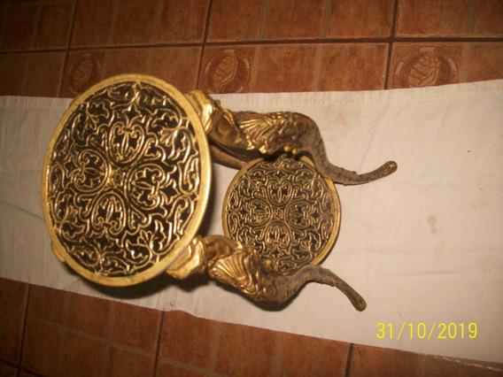 Radidade Antiga Decoraçao Latao Metal Mesinha De Sala Linda