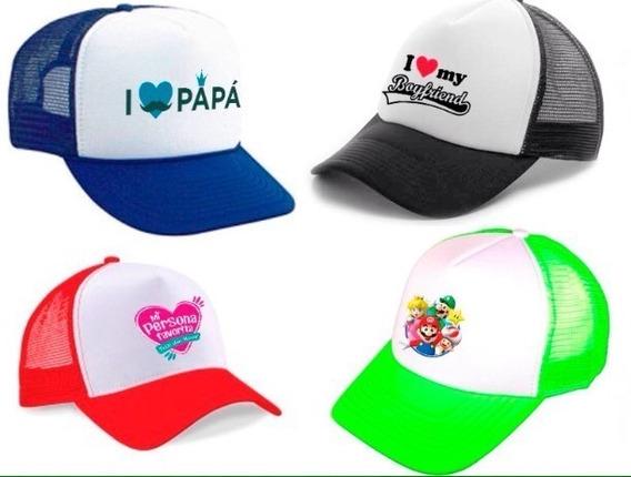 Gorras Personalizadas Estampada Publicitaria Malla Camionera