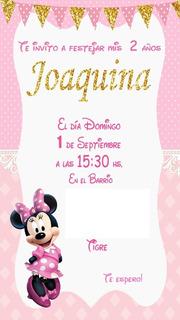 Tarjetas De Invitacion De Minnie Rosa En Mercado Libre Argentina