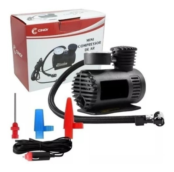Mini Compressor De Ar Portatil Cinoy 12v 300psi Carro Calibrador