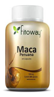 Maca Peruana 500mg 100% Pura - Fitoway - 60 Cápsulas