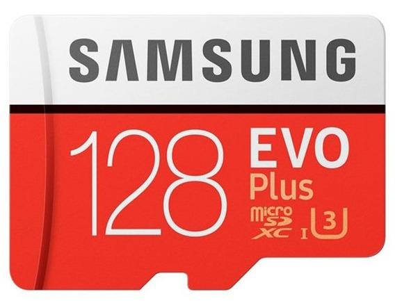 Cartão Micro Sd Sdxc Samsung Evo Plus 100mb/s U3 4k 128 Gb