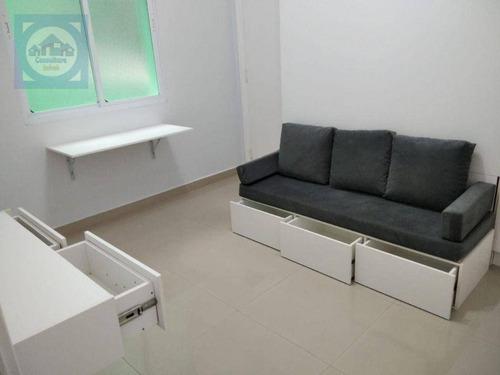 Imagem 1 de 22 de Kitnet Com 1 Dormitório À Venda, 26 M² Por R$ 202.000,00 - José Menino - Santos/sp - Kn0745