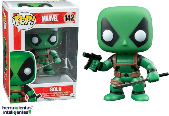 Solo Deadpool Verde Funko Pop Marvel