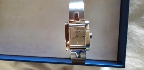 Relógio Feminino Tissot Original Usado, Com Selo De Garantia