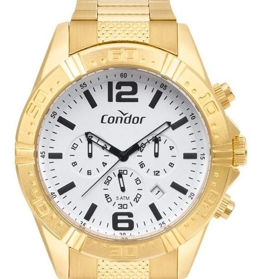 Relógio Condor Masculino Dourado Ouro 18k Original Grande