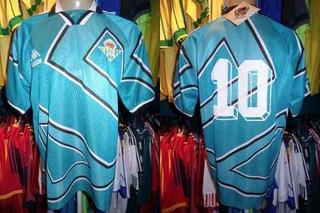 Real Betis 1995-97 Camisa Reserva Tamanho G Número 10.