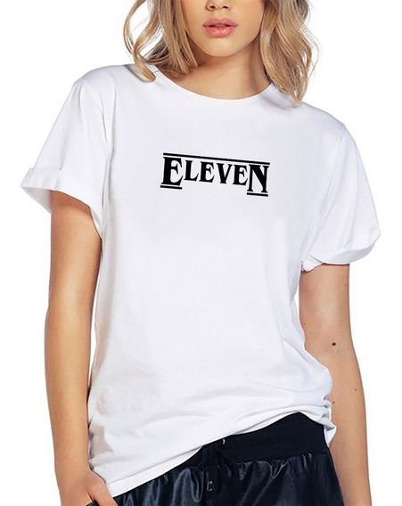 Blusa Stranger Things Eleven Once Playera Camiseta Dama Elite 637