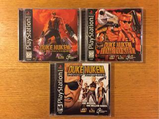 Duke Nukem Ps1 Ps2 Ps3 Playstation 1 Lote 3 Juegos Colección