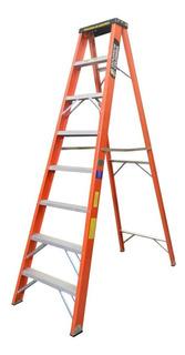Escalera Fibra Vidrio Tijera 8 Pasos / 2.4 Mts 136 Kg