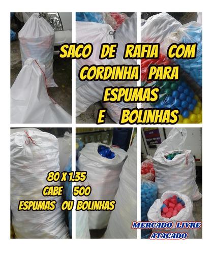 Imagem 1 de 10 de Saco Com Cordinha P/guardar 500 Espumas+bolinhas Kit Com 01