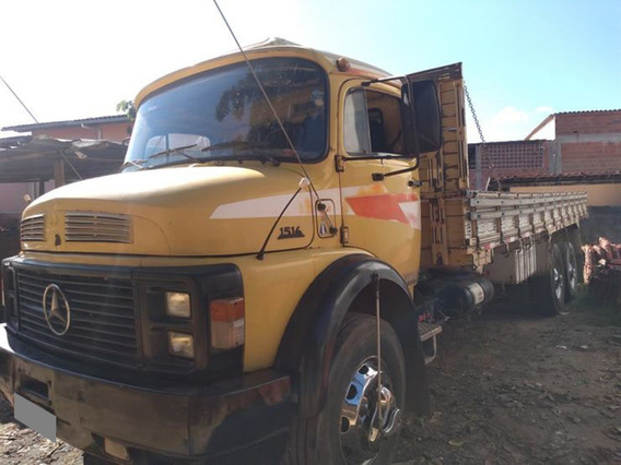 Mb 1514 Truck 6x2 Ano 1989/90 Carroceria.