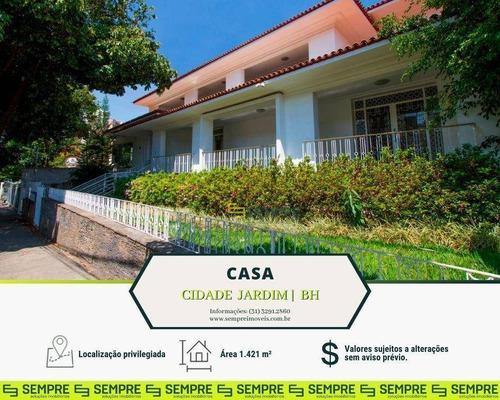 Imagem 1 de 16 de Casa Comercial Para Alugar, 1.421 M² E 06 Vagas - Cidade Jardim - Belo Horizonte/mg - Ca0019