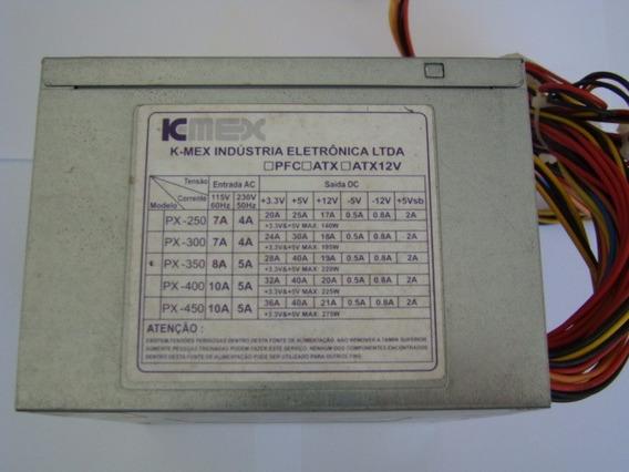 Fonte Atx Kmex Px350 S/ Cabo De Enegia