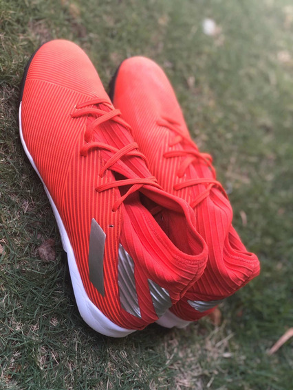 Chuteira Da adidas Society Nemeziz 19 3 Tf Vermelha