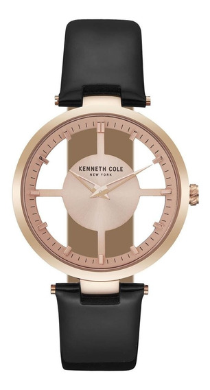 Kenneth Cole Newyork Ladies Transparency Oro Rosado Piel