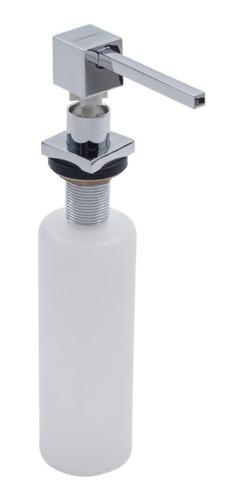 Imagen 1 de 6 de Dosificador Jabón Liquido Cubo Johnson Apidocu Acero Pulido