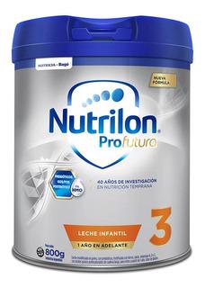 Leche de fórmula en polvo Nutricia Bagó Nutrilon Profutura 3 en lata de 800g