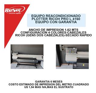 Plotter Ricoh Pro L4160 Cmyk Excelente Estado