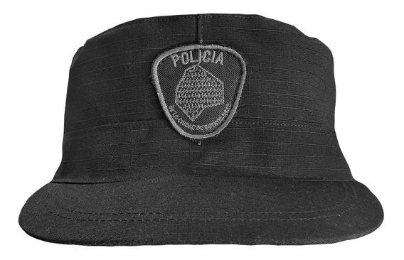 Kepi Quepi Ripstop Negro Policía De La Ciudad
