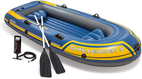 Bote Intex Challenger 300kg C/ Remo E Inflador 2,95m N3