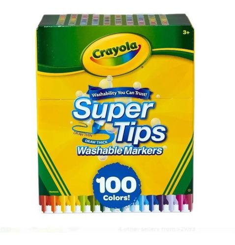 Caja De 100 Marcadores Lavables Crayola Super Trips