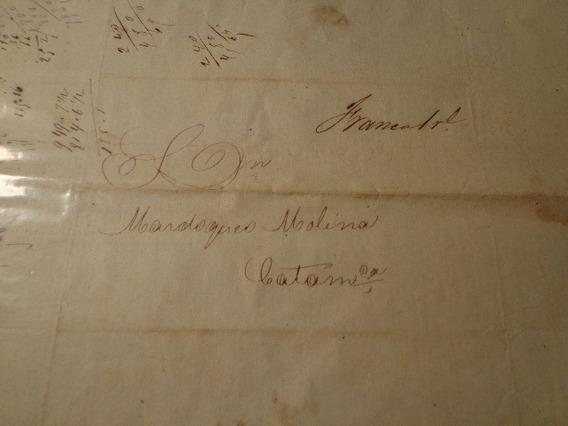 1863- Andalgalá A Catamarca- Franca 1 Real Manuscrito-ver