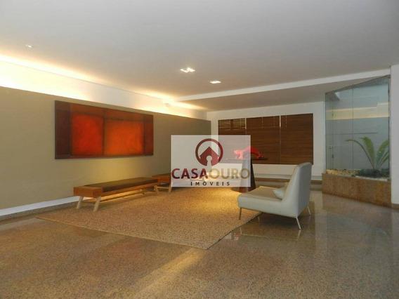 Apartamento Com 4 Dormitórios À Venda, 160 M² Por R$ 1.100.000 - Serra - Belo Horizonte/mg - Ap0908